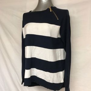 MICHAEL Michael Kors Striped Sweater -  Medium